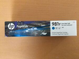 Neu HP 981Y Cyan Tinte L0R13A B