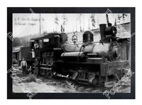 Historic J. K. Gamble Logging Co. Birkenfeld, Oregon Train Postcard