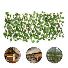 NEW Retractable Garden Fence Expandable Home Decoration Privacy Wood Artificial