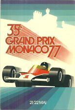 RARE / CARTE POSTALE - FORMULE 1 : 35e GRAND PRIX DE MONACO F1 1977 / POSTCARD