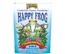 Fox Farm Happy Frog Steamed Bone Meal 4 lb Pound Dry Fertilizer 3-12-0 Bulb Food