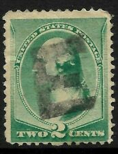 "Fancy Cancel ""Nice Letter E"" 2 Cent #213 Banknote 1888 US Stamps 91C31"