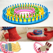 Round loom knitting board DIY yarn craft kits 4 size type a set with needle hook