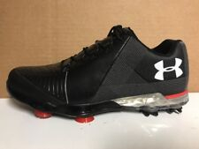 Under Armour Men's Spieth 2 Golf Shoes Black Red Gore-Tex (3000165-001) sz 8