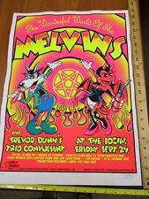 Rock Roll Concert Poster Melvins Trevor Dunn's Stainboy SN LE#275 Orlando FL
