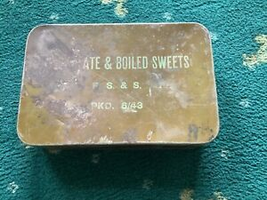 Ww2 Ration Tin Chocolate & Boiled Sweets Uk Postage Only