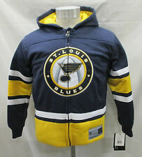 St. Louis Blues Youth Full-Zip Embroidered Hooded Jacket NHL Navy Blue