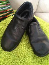 NURSE MATES DOVE Black Leather Slip Resistant Shoes MENS Size 10 M Pd 145.00