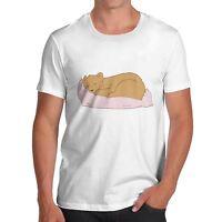 Men's Premium Cotton Silly Bear Sleeping T-Shirt