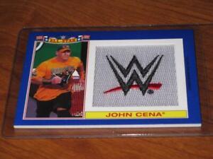 2016 TOPPS HERITAGE JOHN CENA PATCH WWE WWF Commemorative Serial #/25 Blue SP