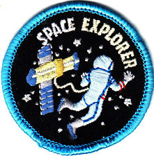 """SPACE EXPLORER"" - Iron On Embroidered Applique Patch/Outer Space, Astronaut"