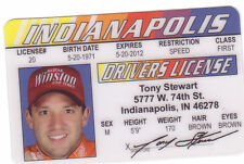WINSTON CUP Series Tony Stewart Indianopolis Indiana IN  Drivers License Nascar