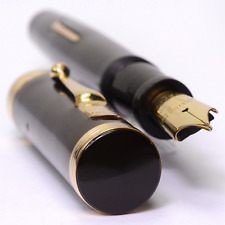 SWAN Eternal 46 Black Large HR Vintage Fountain Pen 1930's GREAT PEN
