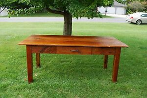 """OLD RECLAIMED BARN WOOD HANDCRAFTED DINNING TABLE 36""""x 72"""""""