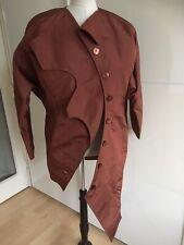 Pret A Porter Unique Asymmetric Rain Rust Coat Size S