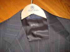 vintage Brooks Brothers charcoal gray SUIT striped jacket pants wood hanger 39 R
