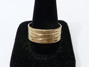 breiter Gelbgold-Ring, 333 Gold, Grösse 59, TOP   ! ! !