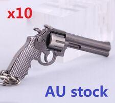 AU Stock Revolver Pistol Weapon Mini Gun Model Metal Keyring Key Ring Chain