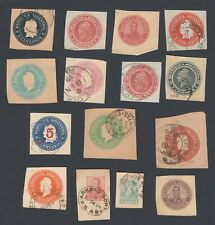 Small Selection FIFTEEN Argentina Printed Cut Out stamps from Envelopes