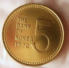 1972 SOUTH KOREA 5 WON - AU/UNC Early Date Coin - BIN #EC