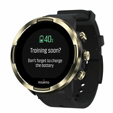 Suunto 9 G1 Baro GPS Watch With Leather Band Gold