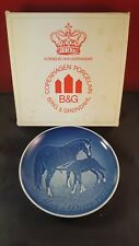 Bing & Grondahl B&G Collector Plate Denmark Mother's Day 1972 horses ltd box