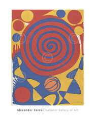 ABSTRACT ART PRINT - Untitled by Alexander Calder Spiral Circle Poster 20x24