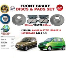 FOR HYUNDAI AMICA ATOZ MX 1.0 1.1 HB 98-10 FRONT BRAKE DISC SET + BRAKE PADS KIT