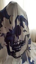 New Alexander McQueen Scarf Pashmina Floral Bloom Skull Modal-Silk Scarf