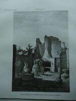 1845 Zuccagni-Orlandini Forno e Mulino a Pompei nella Provincia di Napoli