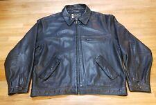 Eddie Bauer Legend Journeyman Bomber Mens Genuine Leather Jacket Size Large L