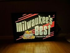 Vintage Mancave Pub Milwaukees Best Rare Lighted Sign In Good Working Condition