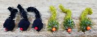Fnf Predator9 black and olive worms set of 6