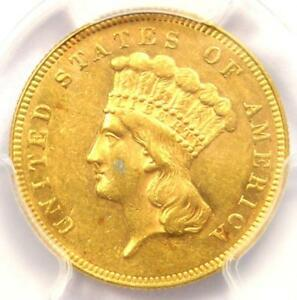 1866 Three Dollar Indian Gold Coin $3 - PCGS Uncirculated Details (UNC MS)!