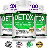 Premium Liver Cleanse Detox & Repair THREE BOTTLES Formula +22 Herbs Support