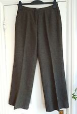 Artigiano green tweed wide leg trousers with wool and silk 12