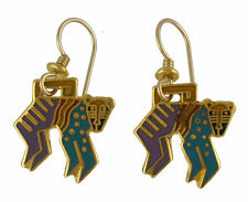 NEW Retired Laurel Burch MYTHICAL MONKEY Gold Earrings
