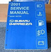 Subaru Imprezza 2001 Service Manual Engine Section