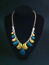 vintage STATEMENT chunky BIB leaves enamel choker necklace fashion