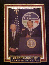 BARACK OBAMA DEPT OF TRANSPORTATION  WILLABEE & WARD COMMEMORATIVE SERIES PIN