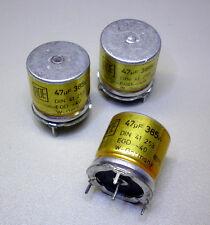 3 Stück Elkos RDE 47 µF / 385 V radial, stehend (M0846)