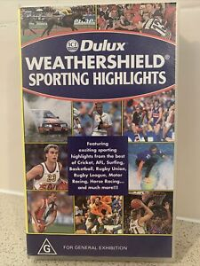 Sporting Highlights Dulux VHS Tape AFL NRL Cricket Racing Surfing