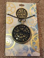 Disney Alice Through The Looking Glass Medallion Pocket Watch Necklace Nwt!