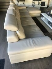 Beige leather lounge suites used