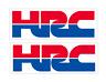 2x adesivi honda HRC alta qualita' bubble free racing prespaziato senza fondo