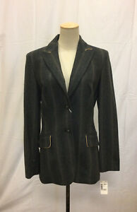 GIANFRANCO FERRE STUDIO Gray Wool Blend Pant Suit Size 10 NWT