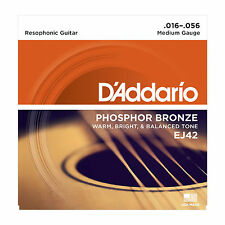 D'ADDARIO EJ42 MEDIUM PHOSPHOR BRONZE 16-56 ACOUSTIC GUITAR STRINGS 2 PACK