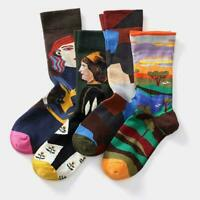 Unisex Retro Breathable Sock Cotton Socks Funny Novelty Socks Vintage Night E0W4