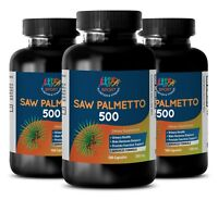 (3 Bot.) Saw Palmetto Extract 500mg Dietary Supplement Supports Prostate Health