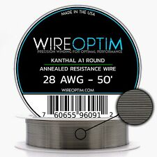 28 Gauge AWG Kanthal A1 Wire 50' Length - KA1 Wire 28g GA 0.32 mm 50 ft